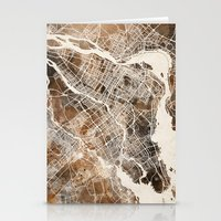 montreal Stationery Cards featuring Montreal by Map Map Maps
