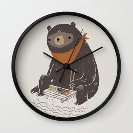 sushi bear Wall Clock