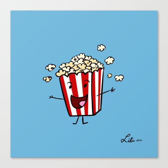 Buttered Popcorn Canvas Print