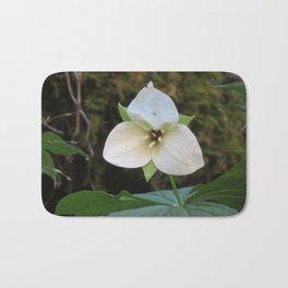 White Trillium Bath Mat