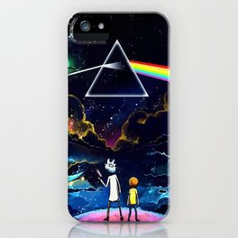 The dark side of Morty and Rick iPhone Case