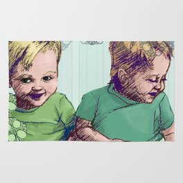 Babies Blue Rug