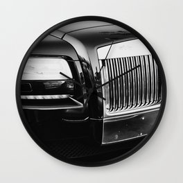 Rolls Grille // Black Luxury Car Close Up Photography Expensive Ultra Wealthy Autos Wall Clock