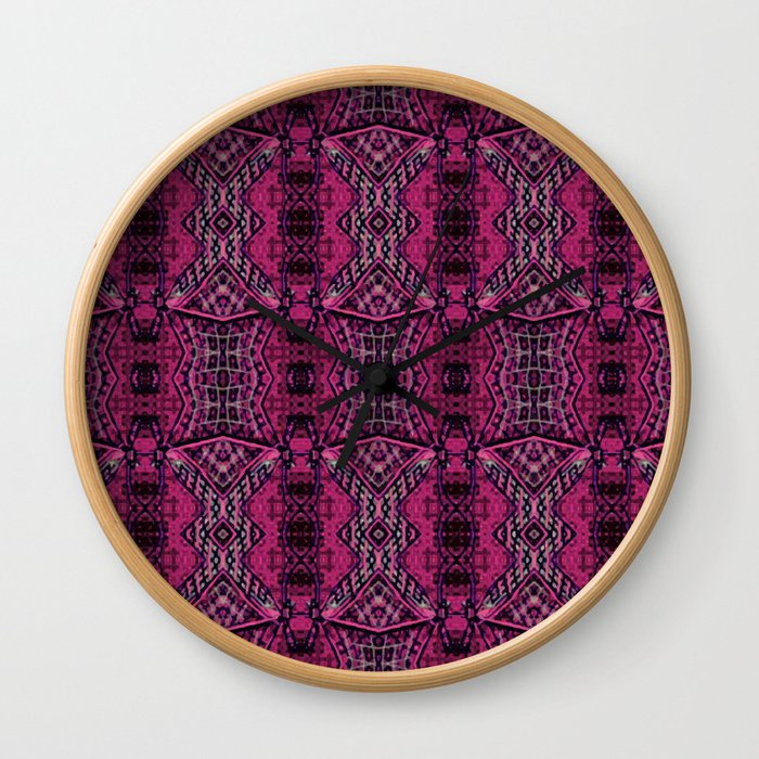 Maroon tissue Wall Clock