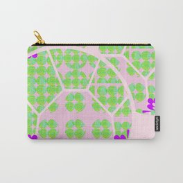 Pretty Purple with Pink and Mint Green Carry-All Pouch