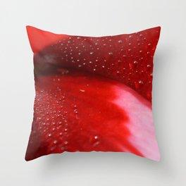 Dew on Petal fine art photography Throw Pillow