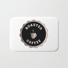 Round Roasted Coffee Sign Bath Mat