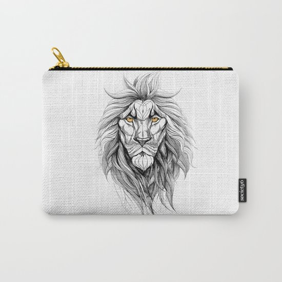 The Lion (black stroke version for t-shirts) Carry-All Pouch