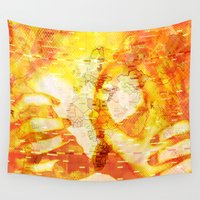 boobs Wall Tapestries featuring Never In A Million Years < The NO Series (Orange) by Wayne Edson Bryan