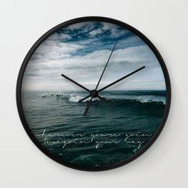Surfing Ocean Beach San Diego Wall Clock