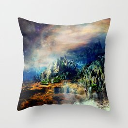 Cosmic Xanadu Throw Pillow