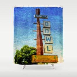 Century Bowl - Merced, CA Shower Curtain