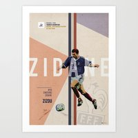 zidane Art Prints featuring #10 Zidane by Filippo Maniscalco