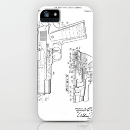 Gun Vintage Patent Hand Drawing iPhone Case