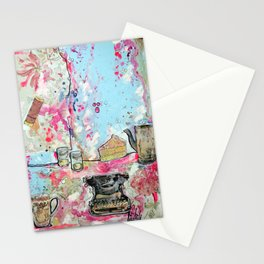 WORK SPACE - madewithunicorndust by Natasha Dahdaleh Stationery Cards