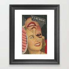 U.S. Rubber Framed Art Print