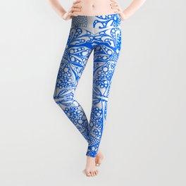 Doodles in blue Leggings