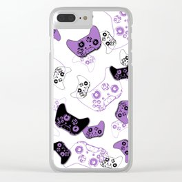 Video Game White & Lavender Clear iPhone Case