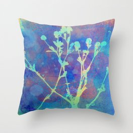 Diazo Series — Thistle Throw Pillow