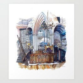 Dumbledore's office Art Print
