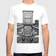 Price Less SMALL White Mens Fitted Tee