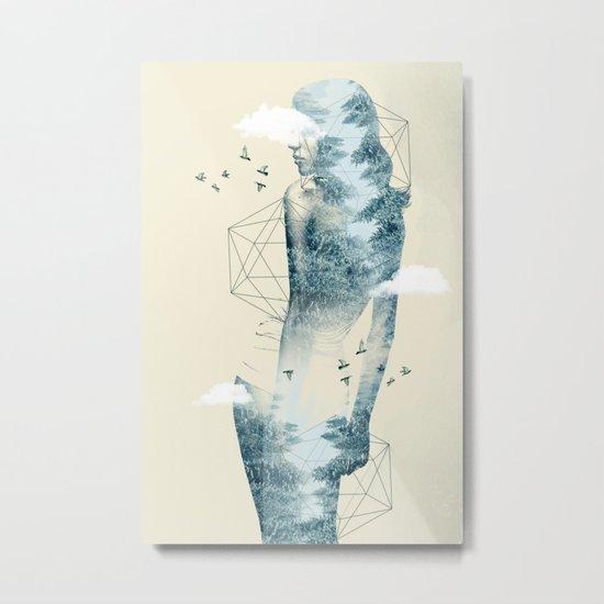 Tree line Facet Metal Print