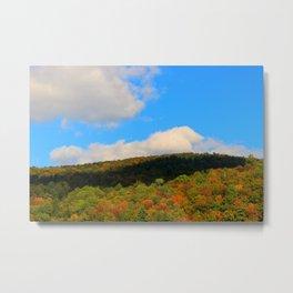 Foliage on Lake Eligo in Hardwick, VT Metal Print