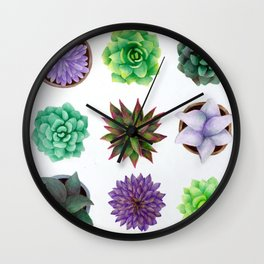 Succulent Friends Wall Clock