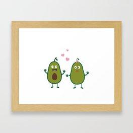 Avocados in love Framed Art Print