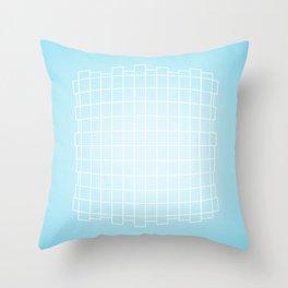 Warped in Blue Throw Pillow