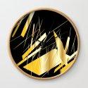 golden treasure abstract geometrical art by katerina_ez