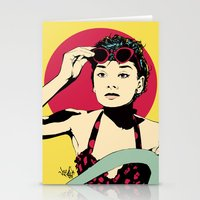 audrey Stationery Cards featuring Audrey by Vee Ladwa