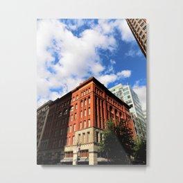 Red Brick City Metal Print