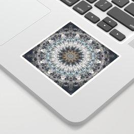 Gray, blue Mandala Sticker