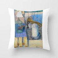 trumpet Throw Pillows featuring trumpet by Joasiekk