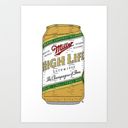 The Champagne of Beers Art Print