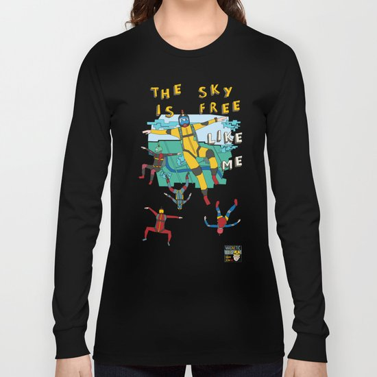 Skydive in the sky Long Sleeve T-shirt