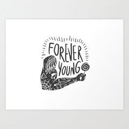 Forever youg 1 Art Print