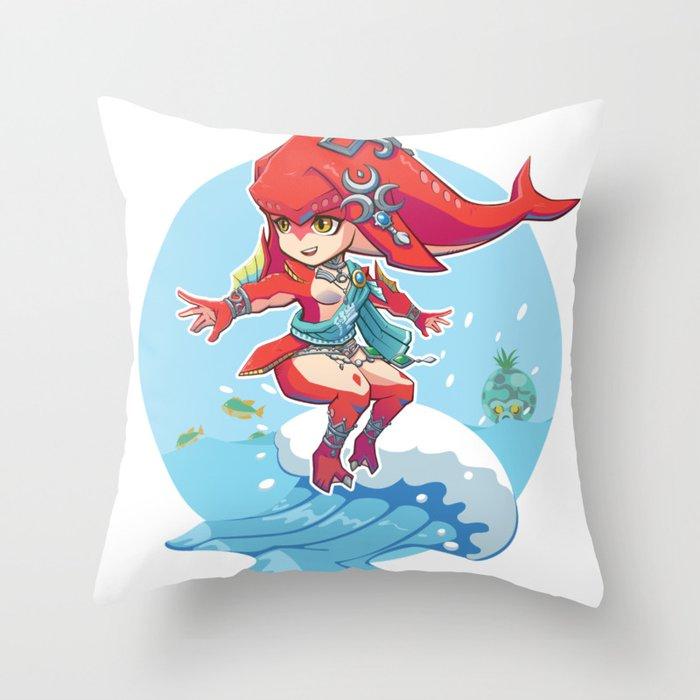 ZBOTW - Mipha Throw Pillow