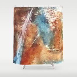 Digital Abstract No2. Shower Curtain