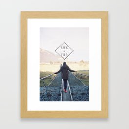 Typography Framed Art Print