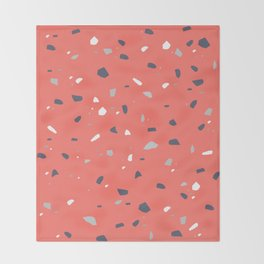 Living Coral Terrazzo #1 #decor #art #society6 Throw Blanket
