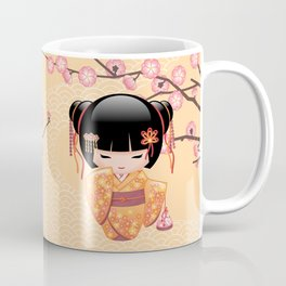 Japanese Ume Kokeshi Doll Coffee Mug