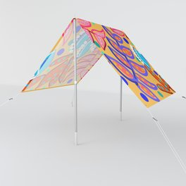 Whimsical Leaves Pattern Sun Shade