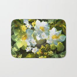 """White flowers forest"" Bath Mat"