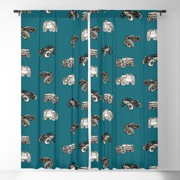 A trail or trails rock crawling offroad crawler pattern Blackout Curtain