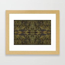 Rusty Yellow Framed Art Print