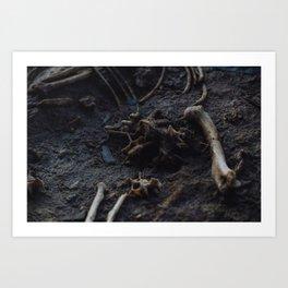 Remains of a Bygone Predator, Scatter Art Print