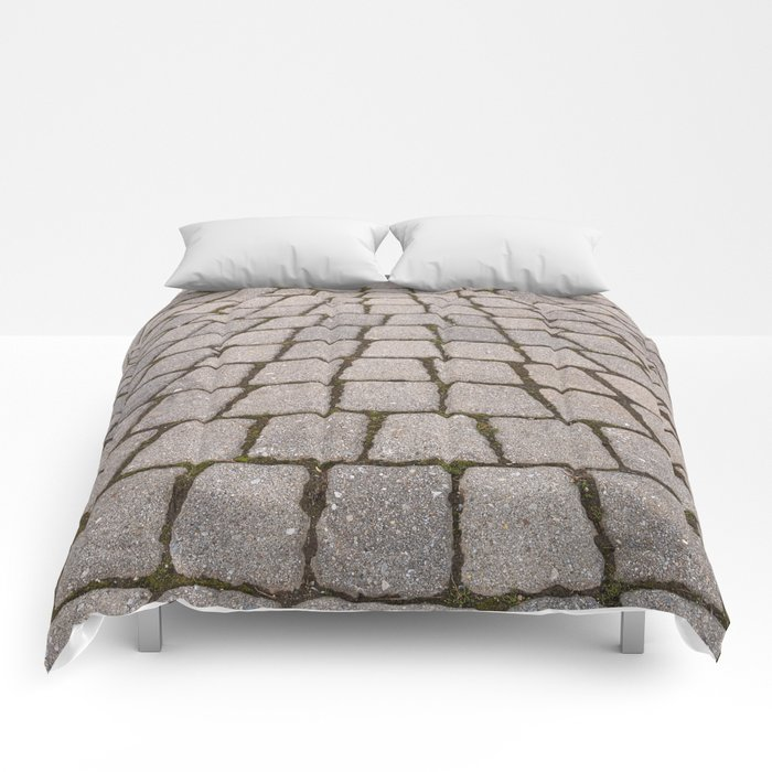 Radial Pavement Tiles Comforters