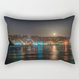 Moon Over Main Beach Rectangular Pillow
